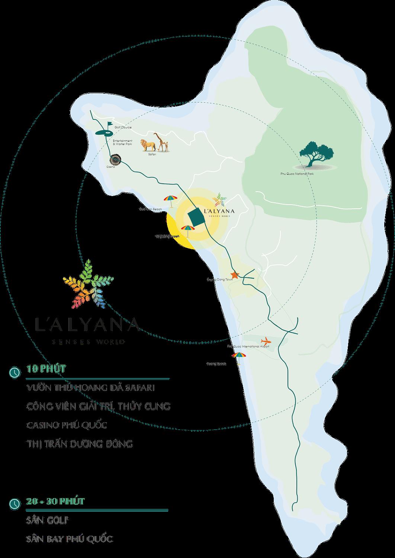 Vị trí dự án L'Alyana Senses World Phú Quốc