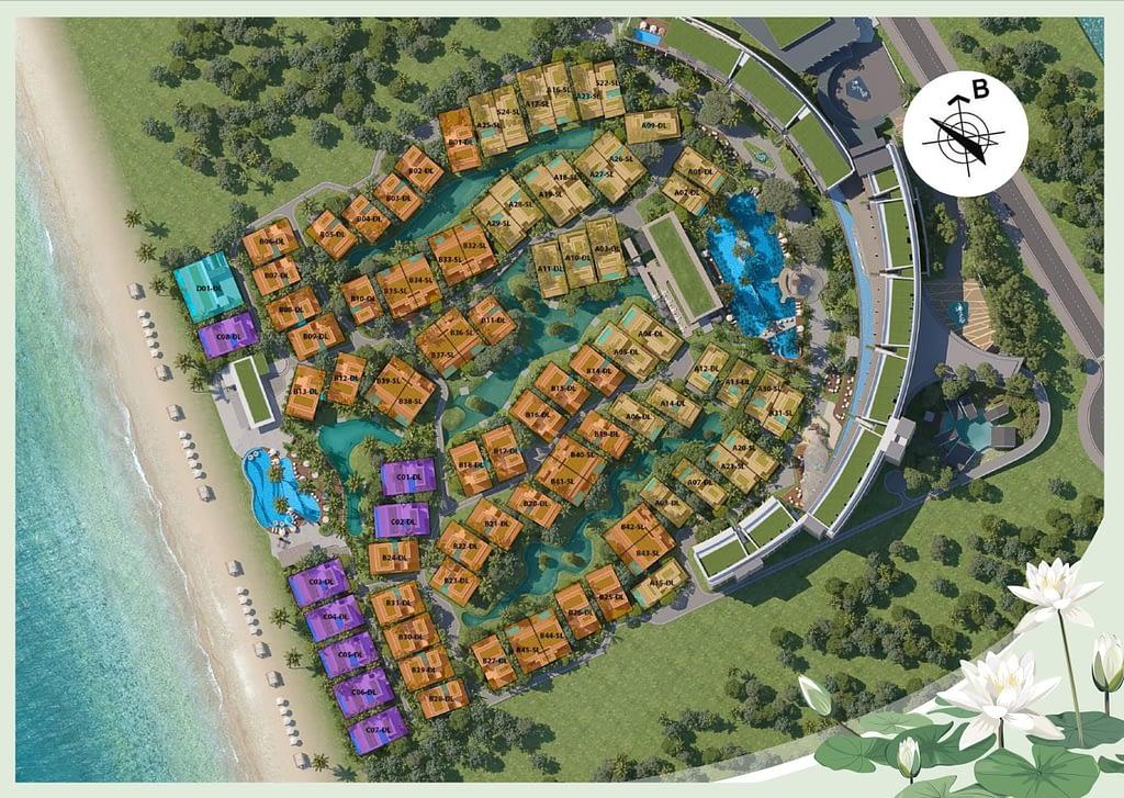 mặt bằng villa dự án lalyana senses world phú quốc