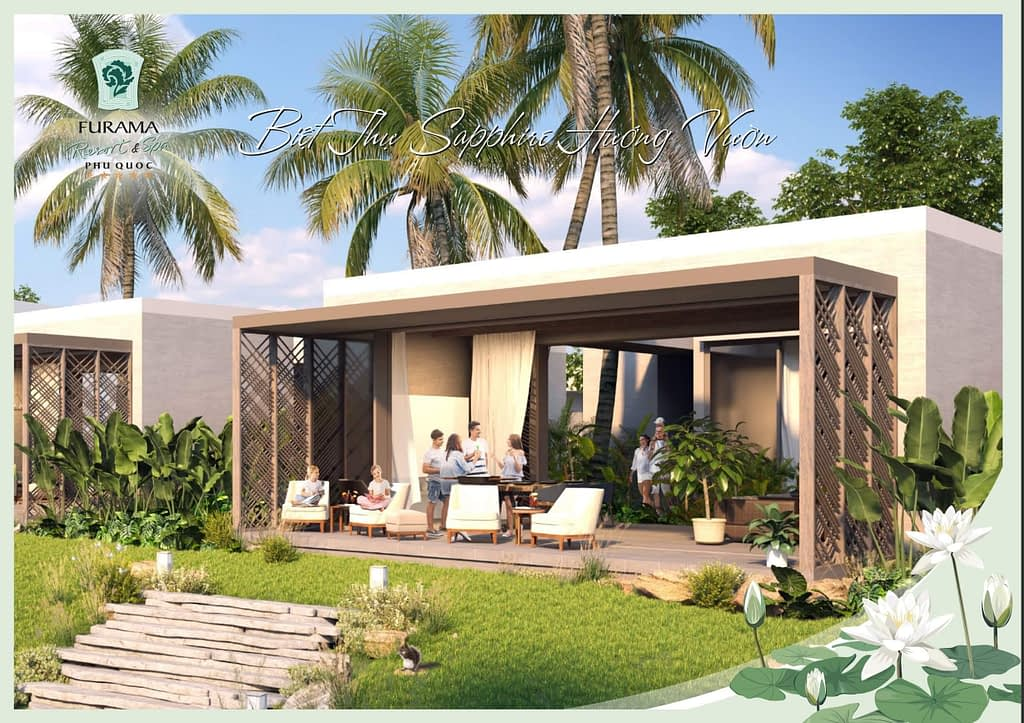 phoi canh villa 1 phong ngu furama phu quoc