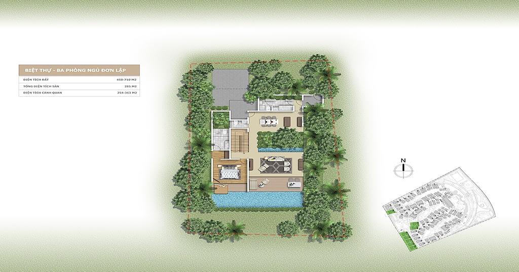Thiết kế Villa L'alyana Senses World 3 phòng ngủ