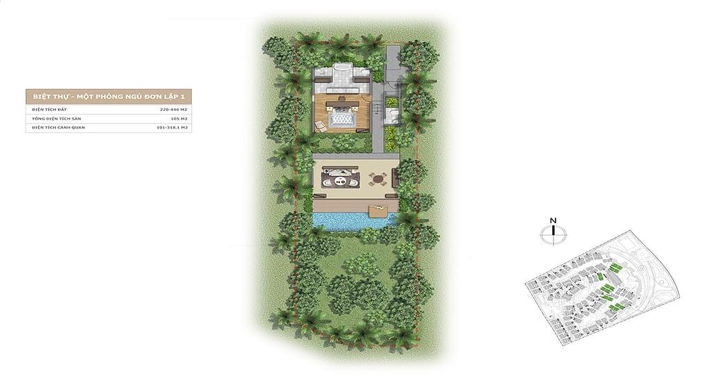 Thiết kế Villa L'alyana Senses World 1 phòng ngủ