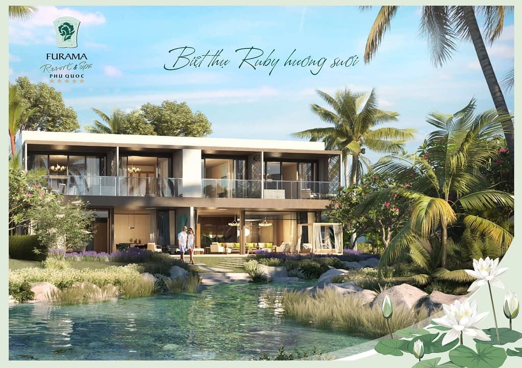 phoi canh villa 2 phong furama phu quoc