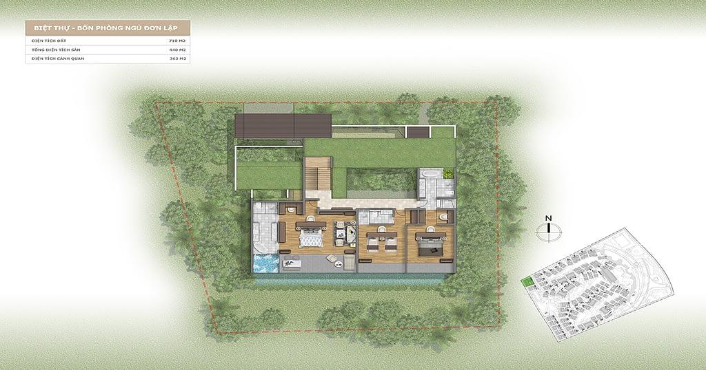 Thiết kế Villa L'alyana Senses World 4 phòng ngủ