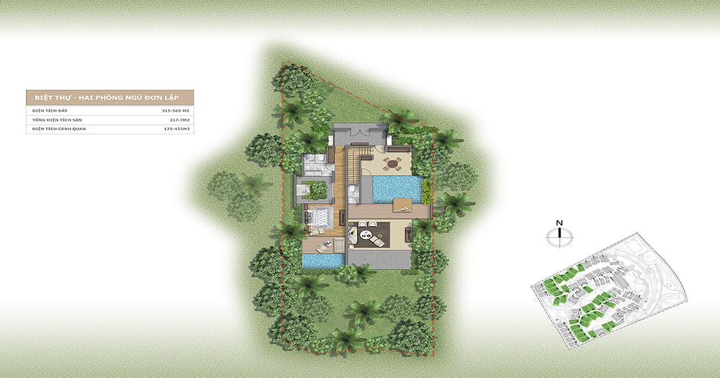 Thiết kế Villa L'alyana Senses World 2 phòng ngủ